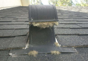 lint clogged dryer vent roof cap