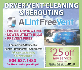 25 Dollars Off Any Dryer Vent Cleaning or ReRouting Service Coupon