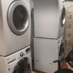 Stacked washers & dryers - spa laundry